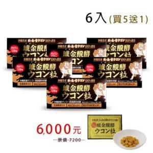 琥金醗酵薑黃錠6盒(買5送1)